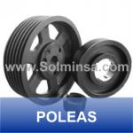 POLEAS DE ALIMINIO Y FIERRO FUNDIDO WWW.SOLMINSA.COM TELEFONO 2522207